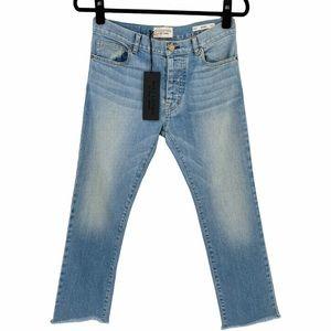 Nili Lotan Mid Rise Cropped Boyfriend Jeans in Beach Wash